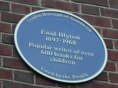 Blue plaque: Enid Blyton - popular writer of over 600 children's books.