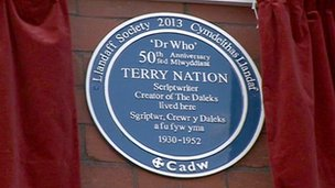 Terry Nation plaque