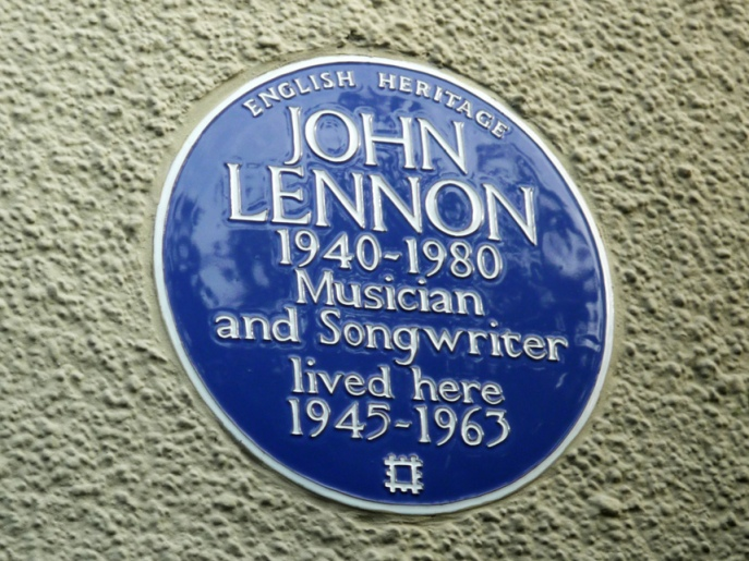 John Lennon 1940-1980 musician and songwriter lived here 1945-1963