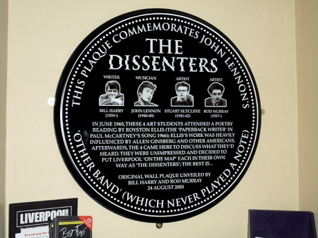 John Lennon plaque - The Dissenters